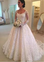 scoop neck lace wedding dress buy discount attractive tulle scoop neckline a line wedding dress