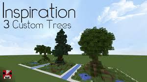minecraft inspiration 3 custom trees world