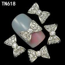 aliexpress com buy 10pcs 3d alloy nails art decoration bow