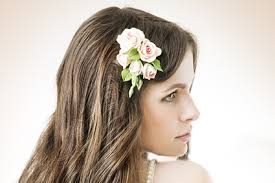 communion hair accessories fresh flower hair pieces