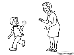 goodbye coloring pages sketch coloring page