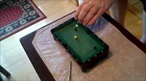 micro mini realistic pool table youtube