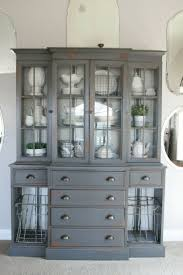 ideas about china cabinet makeovers pinterest hutch grand design grain sack stripe inspired hutch gray tabby glidden and minwax provincial stain