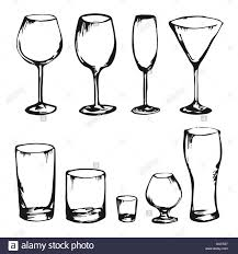 alcohol vector collection of hand drawing vector drinks and glasses alcohol