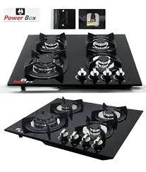 Prestige Cooktop 4 Burner Powerbox Glass Top 4 Burner Stove 4 Burner Gas Stove Prestige