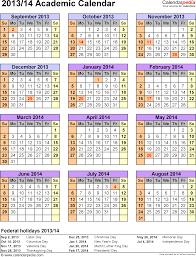 academic calendars 2013 2014 as free printable excel templates