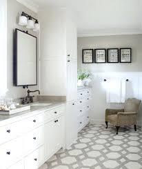 small white bathroom storage interior design