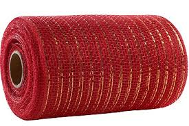and gold mesh ribbon 31977