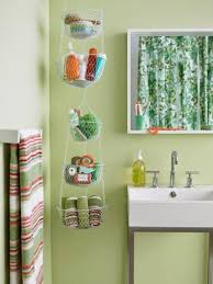 Storage Ideas For Small Bathrooms With No Cabinets Creative Diy Hanging From Ceiling Makeup And Towel Storage Ideas