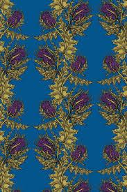timorous beasties wallcoverings grand thistle hand printed wallpaper