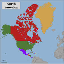 Blank Map Of North America by Blank Color Map North America