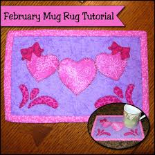 Mug Rug Designs Mug Rug Of The Month Patterns Sher U0027s Creative Space Pdf Craft