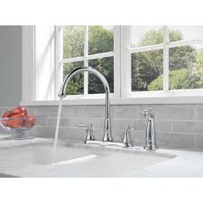 Two Handle Kitchen Faucet by Delta Faucet 2497lf Cassidy Polished Chrome Two Handle With