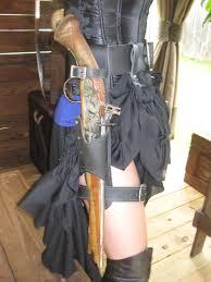 leather flintlock leg holster black powder