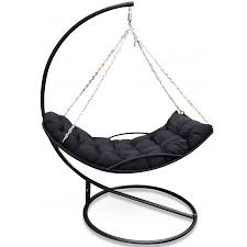 wicker hammock swing bed and stand bare outdoors