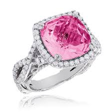 diamond pink rings images Fine gemstone jewelry pink sapphire diamond cocktail ring 11ct jpg