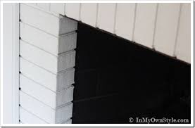 Black Paint For Fireplace Interior Airstone Fireplace Makeover On A Diy Budget Inmyownstyle