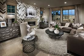 Silver Shag Rug Contemporary Living Room With High Ceiling U0026 Interior Wallpaper In