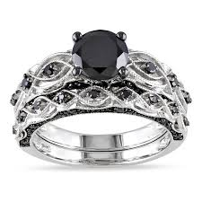 Black Diamond Wedding Ring Sets by 34 Best Diamond Wedding Rings Images On Pinterest Diamond
