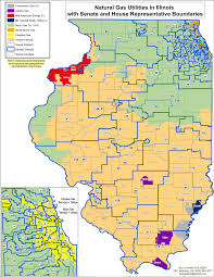 Illinois Map With Counties by Natural Gas Utilities In Illinois Map Illinois Energy Association