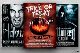 free halloween flyer background halloween flyer psd bundle v3 to customize with photoshop