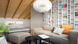 living and sleeping areas exist in harmony in these comfortable