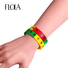 rubber wristband bracelet images Flola 3 colors mix silicone rubber bracelet unisex wristband jpg