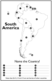 south america map quiz unit 1 the early 1800 s studied during