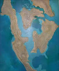 Map Of The World 1 Million Years Ago by Oceans Of Kansas Paleontology