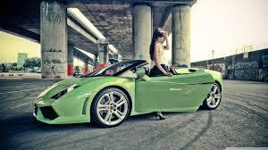 Lamborghini Gallardo Green - lamborghini gallardo japanese high heels convertible women