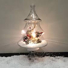 glass tree jar decoration the farthing