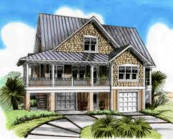 three level beach house plan 15026nc beach country low