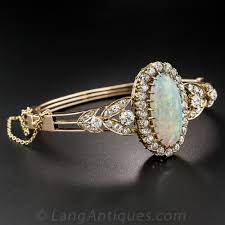 vintage opal engagement rings antique opal and diamond bangle bracelet