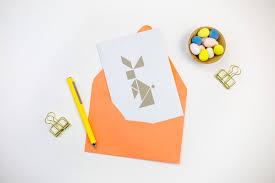 diy tangram easter bunny card tinselandtrim