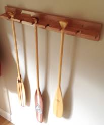 canoe paddle holder maple stained in your colour choice great