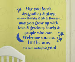wall decal quote sticker vinyl lettering welcome to the world baby
