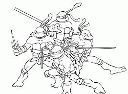 preschool teenage mutant ninja turtles coloring pages printable