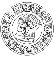 imagenes mayas para imprimir dibujo de calendario maya para colorear dibujos para colorear