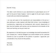 Resume For A Sales Job by Sales Cover Letter Template 8 Free Samples Examples Format