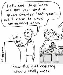 gift register gift registry and comics pictures from cartoonstock