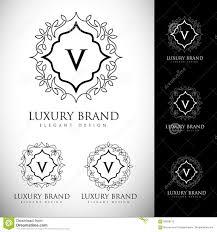 luxury logo letters stock vector image 69558215