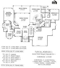 5 bedroom home floor plans baby nursery 2 story 5 bedroom house big bedroom house plans