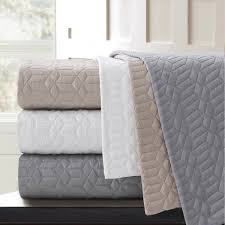 Geometric Coverlet Stay Warm And Cozy With This Echelon Home Laguna Quilted Cotton