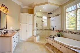 bathroom linen cabinet with glass doors glass door armoire bathroom traditional with large shower linen
