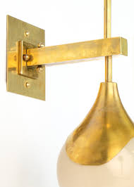 Brass Sconces Mid Century Modern Murano Glass And Brass Sconces Jean Marc Fray