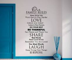 family rules wall sticker small home decor inspiration marvelous