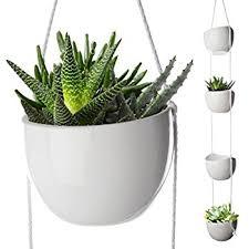 amazon com multicolored ceramic hanging planter set w 4