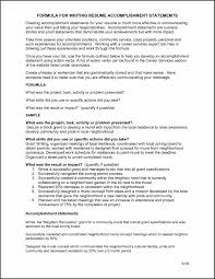 Grant Writer Resume Sample Resume With Accomplishments Section Free Resume Example