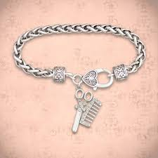 clasp bracelet charms images Hairdresser charm clasp bracelet jpg