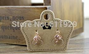 cardboard earrings customized jewelry earrings packaging tags kraft paper cardboard